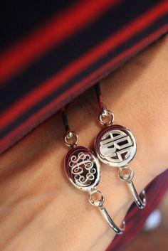 Sterling Silver Monogrammed Latch Bracelets from Swell Caroline - Preppy & Polished!