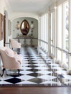 Checker board floor