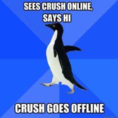 Ohhh how socially awkward:)