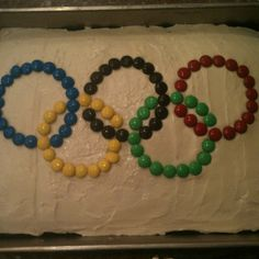 Devil's Food with vanilla icing!  Used M to display the Olympic Rings! Go USA!