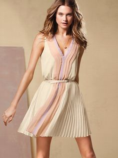 Knife-pleat Mini Dress #VictoriasSecret http://www.victoriassecret.com/clothing/dresses/knife-pleat-mini-dress?ProductID=91310=OLS?cm_mmc=pinterest-_-product-_-x-_-x