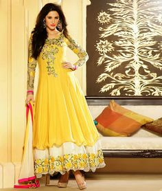 New Arrival - Here is a ravishing and elegant #designer #AnarkaliDress perfect for your #ReceptionParty or #festive. It will definitely make the heads turn towards you at your special happenings.  Get Extra 16% Off on #BollywoodAnarkali Dresses....   Click here:- http://www.shoppers99.com/all_sales/nargis_fakhri_bollywood_anarkali_suits