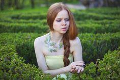 Fine botanical  jewelry for woodland wedding. Green by FiveOClocks, $155.00