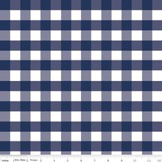 Riley Blake Designs - Gingham - Large Gingham in Navy