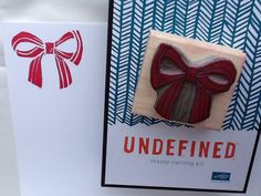 Undefined stamps, stamp carving, bow, stampin up! Http://stampingjoy.blogspot.com