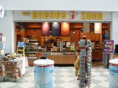 The Energy Zone provide pre- and post-workout smoothies and shakes, in addition to a large selection of beverages and snacks. PS, they also sell locks!