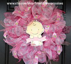 It's a girl - Baby shower wreath or great for a gift