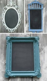chalk board paint and a picture frame!