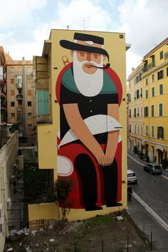 Stunning mural by Italian illustrator and artist Agostino Iacurci