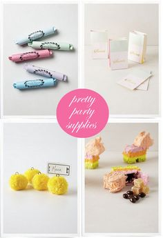 pretty party supplies