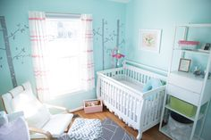 Project Nursery - Aqua and Pink Nursery