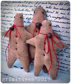 Primitive Christmas Cloth Gingerbread Men