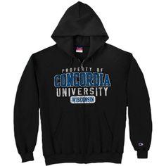 Product: Concordia University Wisconsin Full-Zip Hooded Sweatshirt $48.00