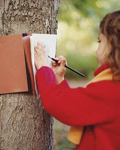How to Make Tree and Leaf Rubbings