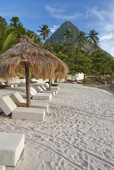 St. Lucia beach..