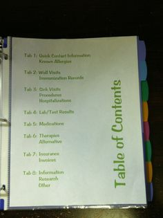 Children's Medical Binder - keep all things medical organized and handy (great for anyone, not just kids!)