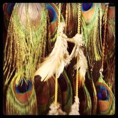 diy feather hair clips