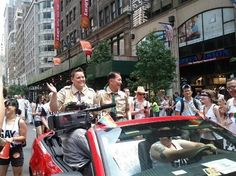 A fan shot of the GLAAD contingent on the NYC Pride Parade, which we attended in our scouting uniforms. End the discrimination now.