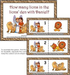 Count the Lions 1-10 file Folder Game