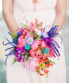 super bright and colorful bouquet