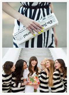 #Cupcakedreamwedding black and white bridesmaid dress ideas