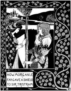 How Morgan Le Fay Gave a Shield to Sir Tristram (Aubrey Beardsley)