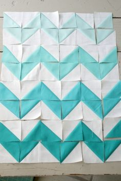 Chevron quilting with just triangles. I could do this!!