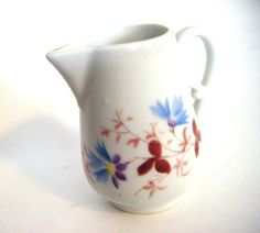 Lovely Little Cramer With Blue Burnt Red Flowers by parkledge, $15.00