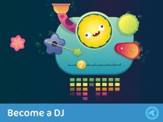 Toonia Jelly: Music - a simple interactive musical toy with a variety of instruments. Appysmarts score: 87/100 http://www.appysmarts.com/application/toonia-jelly-music,id_100277.php