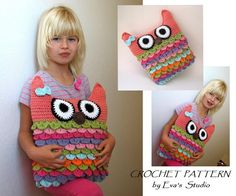 Looking for a crocheting pattern for your next project? Look no further than Crochet Owl Pillow from EvasStudio! - via @Craftsy Owl Pillows, Pillow Patterns, Crochet Owls