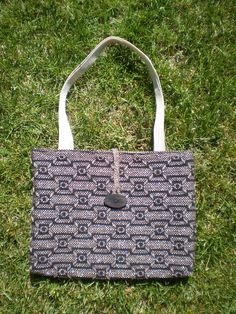 """This is my latest pattern. Tote bag measures about 16 """" w x 12"""" h."""