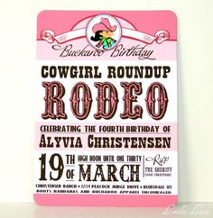 Belle has to have a cowgirl party one year