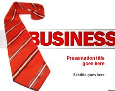 Red Tie Business PowerPoint Template for business presentations in 2014 #PowerPoint #business #templates