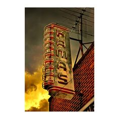 Neon sign - Kamas, Utah.  My maiden name is Kamas.  Photographer sent me print to frame and is now hanging in my house. :-)