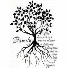 Family Tree Tattoo.....Christine. Something like what you want? tree tattoos, tattoo idea, family trees, quotes, root, famili tree, wall decal, family reunions, families