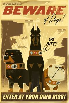 """Vintage Disney """"Up"""" Poster by Eric Tan"""