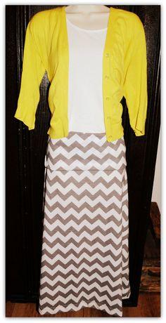 Women's Chevron Maxi Skirt by MistysonMain on Etsy