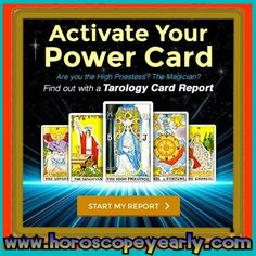 Activate Your Power Card - This one-of-a-kind Tarology Card Report triples your powers of insight with a combination of Tarot, Astrology and Numerology. Your personalized report takes the powerful symbolism of Tarot and combines it with ... Learn More Here:  http://www.horoscopeyearly.com/taurus-lucky-days/