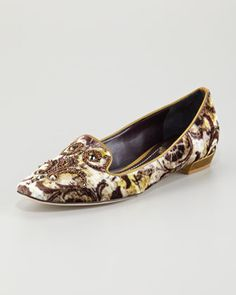 Love these shoes!!!  Definitely have a Baroque design to them.  Too bad they're about eight hundred dollars.  Hopefully there will be some similar ones out this fall.