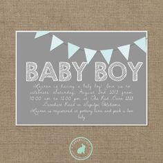 BABY BOY Baby Shower Invitation (DIY Printables)