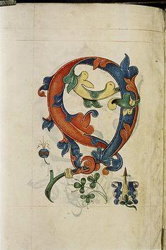 The Tudor Pattern Book - Design based on botanical shapes, flowers, pineapple. Three stylized trefoils. Flower-box.