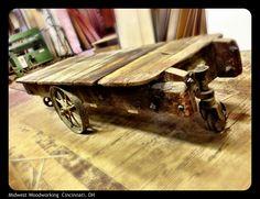 Old school wood cart.