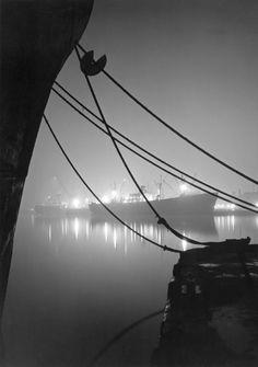 Baltimore Harbor 1949 by A. Aubrey Bodine...