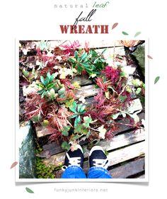 A natural leaf fall wreath.. straight off the tree. via FunkyJunkInteriors.net