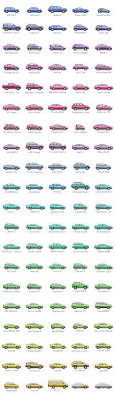 100 cars icons for Autokadabra