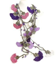 Traditional Crochet NecklaceTurkish by sevinchjewelry on Etsy, $34.00