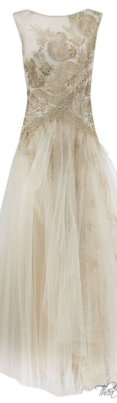 Notte By Marchesa Lace & Tulle Gown