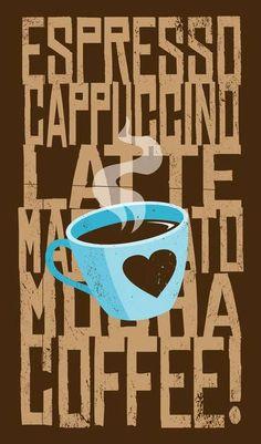 Espresso, cappuccino, latte, macchiato, mocha, coffee, we love them all! Which kind is your favorite?