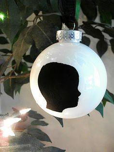 DIY silhouette ornament