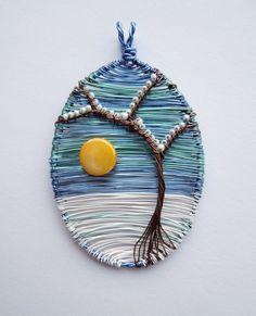 Winter Sun designer wire pendant
